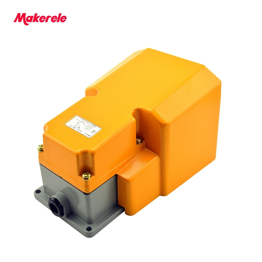 CNC metal alloy foot pedal switch MKLT-6H Guard free shipping on-off Industrial heavy duty foot switch with CE certificate<br>