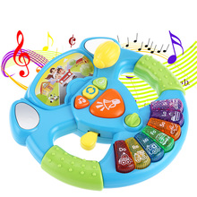 Learning Toy Musical Instruments For Kids Baby Steering Wheel Musical Handbell Developing Educational Toys For Children Gift NEW(China)