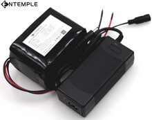 ENTEMPLE Large capacity 12 V 10Ah 18650 lithium Rechargeable battery 12v 10000 mAh 75W LED lamp Xenon+ 12.6 v 3A battery Charger
