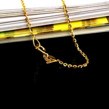 18K Gold Chain Necklace 40-45CM Pure Gold Necklace Suitable for Pendant Fine Jewelry lips design Shinny(China)