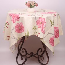 American Country Style Flower White Cotton Table Cloth Covers / Custom Size Decorative Vintage Tablecloth for Coffee Tea Tables(China)