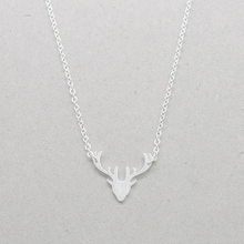 GORGEOUS TALE Stainless Steel Elk Deer head Bohemian Necklace Rose Gold Color Animal Necklace Pendant Wedding Bride Gift(China)