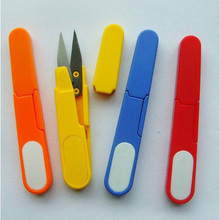 Metal Blade Plastic Handle Cross Stitch/Fishing Line Scissors/Cutter With Cap