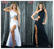 Womens Sexy Club Bodycon Bandage Dresses Star Dinner Party Long Dresses Euro-American Style Black Latin dance clothing Dress