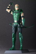 28CM NEW Green Arrow The Avengers Hulk Iron Man Spider Man Captain America Black Widow PVC Figure Toys Model Dolls