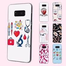 Nurse Medical Medicine Health Heart design transparent phone shell Case for Samsung Galaxy Note 7 5 S6 S7edge S8 Plus S5 S4 mini