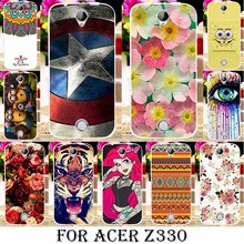 Painted Soft TPU Silicone Phone Cases For Acer Liquid Z330 Z320 M330 4.5 INCH Cases Cover shell skin housing Gel Phone Bag Shell