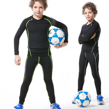 2017 New Kids youth long compression runing pants jerseys survetement football kids soccer training shirts skinny tight leggings