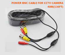 Free Shipping New BNC Video Power Cable 40m 130ft BNC + DC Plug Connector for CCTV Security Cameras
