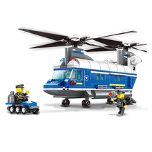 DIY Model Building Kits 3D Scale Toys Car Speedboat Helicopter Police Station Model Enlighten Building Blocks Brinquedos Gift