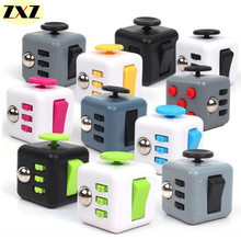 New Mini Fidget Cube 11 Colours Desk Finger Toy Keychain Squeeze Fun Squeeze Fun Stress Reliever Puzzle Magic Cube With Box