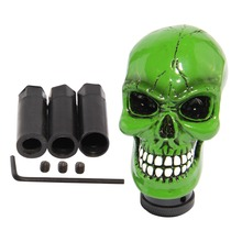 Good quality Premium Green Cool Manual Resin Skull Car Interior Gear Stick Shift Knob Shifter Lever Cover for vw passat b5