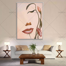 Wall Art For Large Fashion Painting Canvas Women Face Picture Abstract Figures HandPainted Classical Girl Oil Painting For home