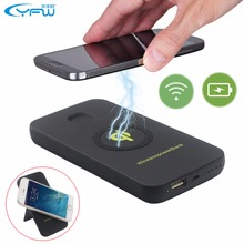 YFW QI Wireless Power Bank 6000mAh Rechargeable Battery Portable Charger USB Charging Pad Powerbank For Cell Phones(China)