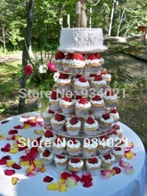 Free Shipping 7 Tier Pmma Cupcake Display / Acrylic Cake Stand In Service Equipment wedding decoration