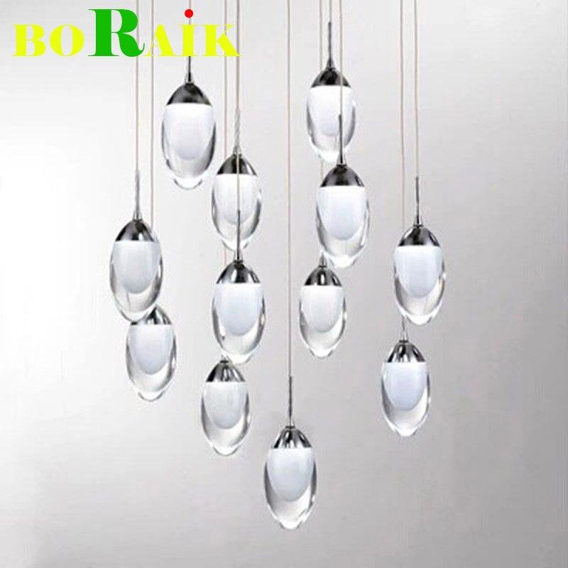 Modern Egg shaped LED Pendant Lights Fashion Spiral LED Pendant Lamp LED Pendant Lights Home Decoration Lighting Stairs light<br><br>Aliexpress