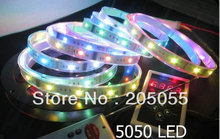 Magic color SMD5050 RGB Dream Color 133 change 6803 IC LED Strip Light 5M Waterproof IP67 + RF Remote controller