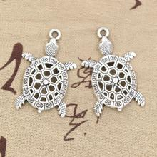 Buy 4pcs Charms hollow tortoise turtle sea 38*25mm Antique Making pendant fit,Vintage Tibetan Silver,DIY bracelet necklace for $1.00 in AliExpress store