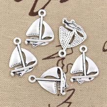 99Cents 12pcs Charms sailing ship 24*17mm Antique Making pendant fit,Vintage Tibetan Silver,DIY bracelet necklace