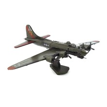 Colorful WW2 B-17 Flying Fortress Airplane Fun 3D Metal DIY Miniature Model Kits Puzzle Toys Children Educational Boy Splicing(China)