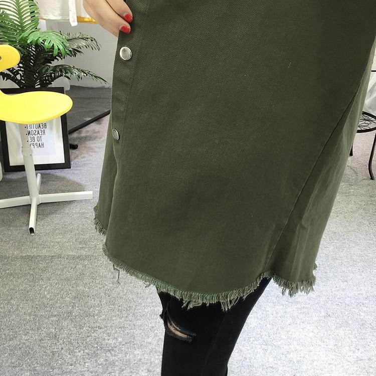 2018 Spring Autumn New Long Section Lapel Tassel Denim Jackets Women Loose Casual Long Sleeve Female\'S Thin Basic Jacket Coats (27)