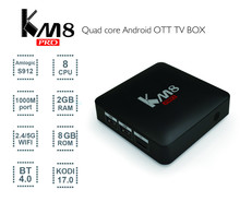 Buy KM8 PRO Android 6.0 Amlogic S912 64bit Octa core KODI17.0 TV BOX 2G/8G Bluetooth 4.0 2.4G/5G Dual WIFI 4K 1000M LAN Set Top Box for $63.80 in AliExpress store