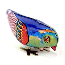 New Arrival Vintage Wind-Up Magpie Bird Pecking Tin Toys For Children Mechanical Toy For Kids(China)