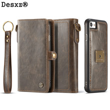 Buy Desxz Phone Case iPhone7 7Plus 2 1 Luxury Retro Multifunction Leather Wallet Card Pocket Magnetic Cover Back Case for $11.95 in AliExpress store