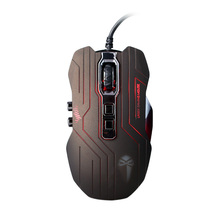 LUOM Gamer Mouse 3200 DPI Optical 9D Buttons Vibration Wired Gaming Mouse Ergonomic Mice LED Programmable for Pro desktop laptop