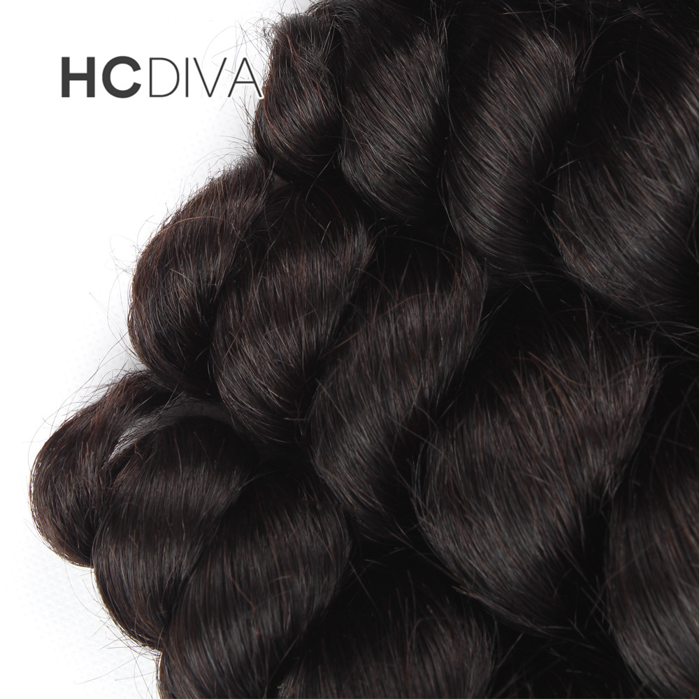 HCDIVA Free Shipping 100% Non-remy Human Hair Extensions Loose Wave Natural Color 1 Bundle 10-28 Inch Brazilian Hair Bundles
