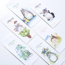 S51 10X Fresh Cute Totoro Paper Envelope Gift Wrap DIY Tool Greeting Card Cover Giftbox Decor Letter Writing(China)