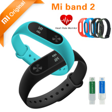 Original Xiaomi mi band 2 Bracelet Smart Wristband mi band 2 Miband Smart Watch Fitness Tracker Heart Rate Touchpad OLED Stock