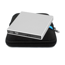 External DVD  Optical Drive USB 2.0  CD/DVD-ROM player CD RW  burner Writer Recorder Portable for Laptop Computer +drive bag