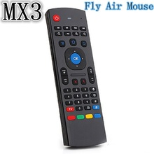 Free shipping MX3 Gyroscope 2.4G Remote Control Fly Air Mouse Wireless Keyboard  for PC/Andriod TV Box/Xbox360/HTPC/IPTV
