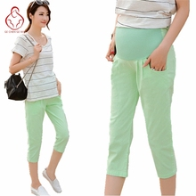 Summer pregnant women pants cotton and linen pregnant women shorts fashion mothers belly pants shorts maternity pregnant clothes
