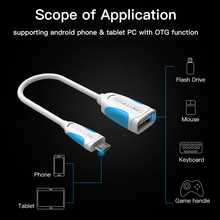 otg micro usb otg adapter Micro USB OTG Adapter 2.0 USB Converter OTG Cable For Samsung(China)