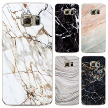 2016 Special Offer Phone Cases For Samsung Galaxy S7 S7edge cover Granite Marble Texture Soft TPU Mobile Bags Screen Protector