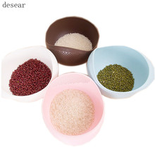 desear plastic Clean Rice Machine Vegetables basin wash rice sieve fruit bowl fruit basket the kitchen good cooking tools(China)
