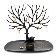 Jewelry Stand Display Tower Bracelet Holder Jewelry Rack Necklace Rack for Home Use ABS Material Deer Tree