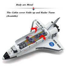 Alloy Space Shuttle/Die Cast Space Craft /Space Plane, SpaceShip Model 19Cm Length W/Light and music(China)