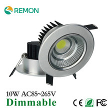 Hot Sale Spot LED Downligth Dimmable 10w COB Ceiling Lamp LED Recessed Lighting Fixtures 110V 220V Bathroom Decoration LED Light