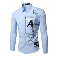 2017 Fashion Brand Camisa Masculina Long Sleeve Shirt Men Korean Slim Design Formal Casual Male Dress Shirt