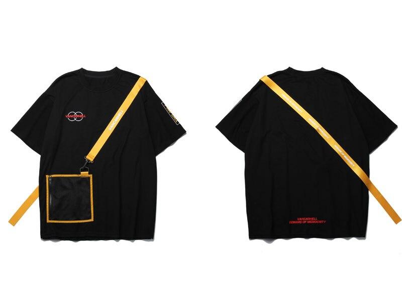 Ribbon Zipper Pocket Tshirts 1