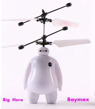 Big Hero Baymas Induction Fly Toys Remote Control RC Helicopter Flying Quadcopter Drone Kids Toy Fairy Doll Best Gifts Mjdtoys