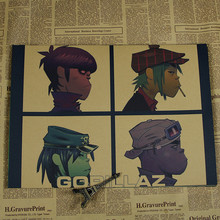 Custom Canvas Art Gorillaz Poster Gorillaz Music Band Wall Stickers Noodle Wallpaper Abbey Road