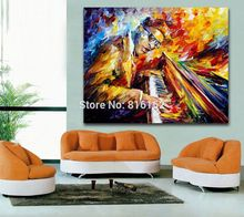 Palette Knife Printed On Canvas Painting For Home Office Hotel Wall Decor Art Famous Musicians Impressive Performance Picture(China)