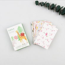 28 pcs/set Lovely forest small animals mini card greeting card lomo message memo card kids gift postcard kawaii stationery