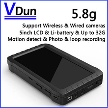 5-inch HD Portable 5.8G Wireless Mini DVR VD-TE968H-5.8G Support Wireless & Wired Camera,Video Receiver,Motion Detect Recording