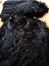 wholesale Quality 50pcs perfect Leniency Male black natural ostrich feather 12-14inch/30-35cm decorative diy(China)