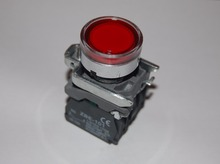 1PC 22MM Red LED Illuminated pushbuttons with flush push Fits XB4BW34B5 24V AC/DC